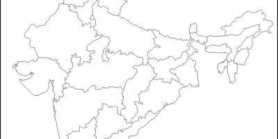 Indie Mapa Mapy Indie Jizni Asie Asie